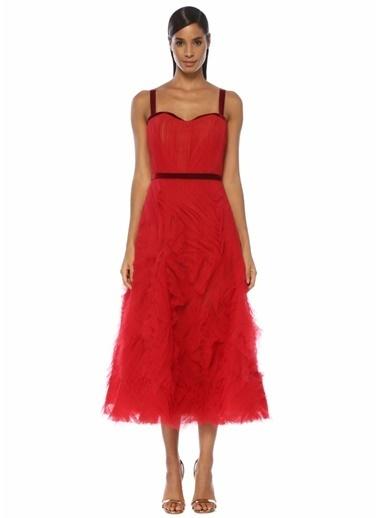 Marchesa Notte Elbise Kırmızı